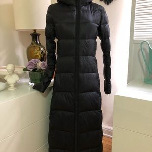 Long light weight down coat